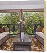 Symmetrical Balcony Wood Print