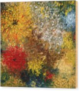 Symphonie De Fleurs Wood Print