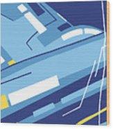 Symphony In Blue - Movement 4 - 1 Wood Print