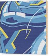 Symphony In Blue - Movement 4 - 3 Wood Print