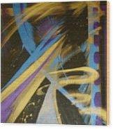Blue Symphony On Black II Wood Print
