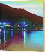 Symphony River Wood Print
