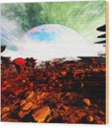 Syn's Moon Wood Print