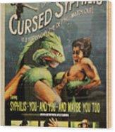 Syphilis Poster Wood Print