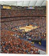 Syracuse Orange Carrier Dome Wood Print