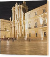 Syracuse, Sicily, Italy - Ortigia Downtown In Syracuse By Wood Print