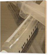 Syringe Wood Print