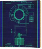 System Of Electrical Distribution Patent Drawing 2a Wood Print