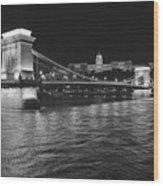 Szechenyi Chain Bridge Budapest Wood Print