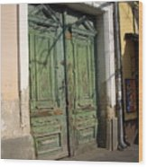 Szentendre Doors Wood Print