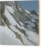T-104406-b Fred Beckey Below Forbidden Peak Wood Print