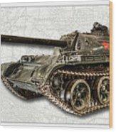 T-54 Soviet Tank W-bg Wood Print
