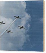 T-6 Texan Airplane Squad 1 Wood Print