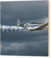 T-6 Texan Smoke On Wood Print