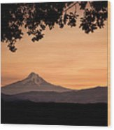 Mt. Hood At Sunset Wood Print