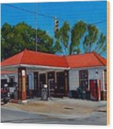 T. R. Lee Service Station Wood Print by Doug Strickland