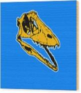 T-rex Graphic Wood Print by Pixel  Chimp