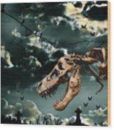 T-rex Graveyard Wood Print