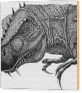 T-rex Wood Print