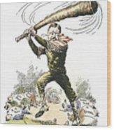 T. Roosevelt Cartoon, 1904 Wood Print