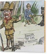T. Roosevelt: Teddy Bear Wood Print