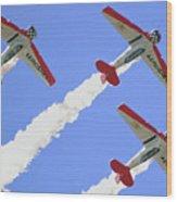 T6 Aerobatics Wood Print