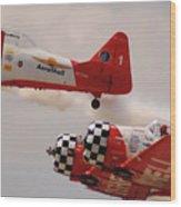 T6 Aerobatics II Wood Print