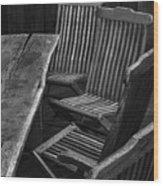 Table And Chairs Husavik Iceland 3767 Wood Print