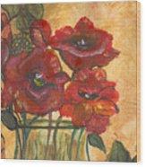 Table Flowers Wood Print