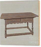 Table Wood Print