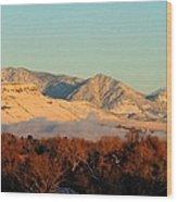 Table Mesa Winter Morning Wood Print