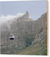 Table Mountain Cable Car Wood Print