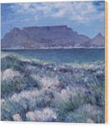 Table Mountain Cape Town South Africa 2007  Wood Print