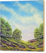 Table Mountain Wood Print