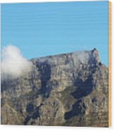 Table Mountain - Still Life With Blue Sky And One Cloud Wood Print