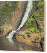 Table Mountain Waterfalls Wood Print