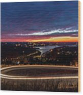 Table Rock Lake Night Shot Wood Print