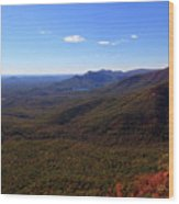 Table Rock Mountain From Caesars Head State Park In Upstate South Carolina Wood Print