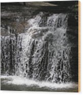 Table Rock South Carolina Water Fall Wood Print