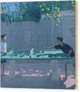 Table Tennis Wood Print