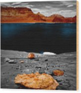 Tabletop Boulder Lake Powell Wood Print