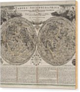 Tabula Selenographica - Map Of The Moon - Lunar Surface - Antique ...