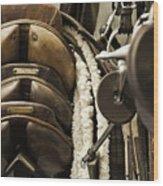Tac Room Saddles Wood Print by John Greim