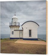 Tacking Point Lighthouse At Port Macquarie, Nsw, Australia Wood Print