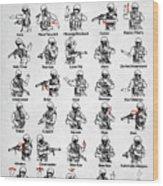 Tactical Hand Signals Wood Print