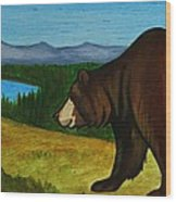 Taggart Lake Bears Wood Print