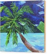 Tahiti Beach Wood Print