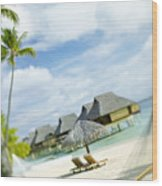 Tahiti, Bora Bora Wood Print by Kyle Rothenborg - Printscapes