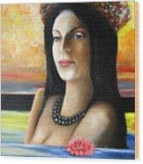 Tahiti Dreaming Wood Print