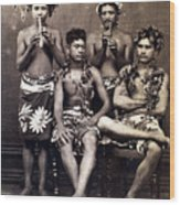 Tahiti: Men, C1890 Wood Print